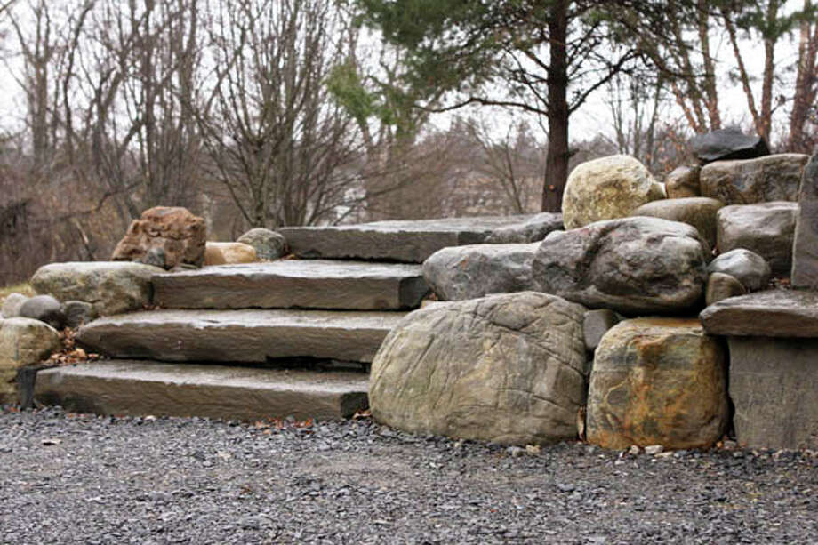 "Altamont-based Warren ""Roy"" Melby, aka the Zen Stoneguy, believes that stone has a life of its own. He uses this philosophy to drive the organic, sculptor's-eye sensibility of his masonry. Read the story here. Photo: Krishna Hill, Krishna Hill/Life@Home"