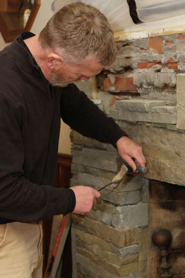 "Altamont-based Warren ""Roy"" Melby, aka the Zen Stoneguy, believes that stone has a life of its own. He uses this philosophy to drive the organic, sculptor's-eye sensibility of his masonry. Read the story here. Photo: Krishna Hill/Life@Home"