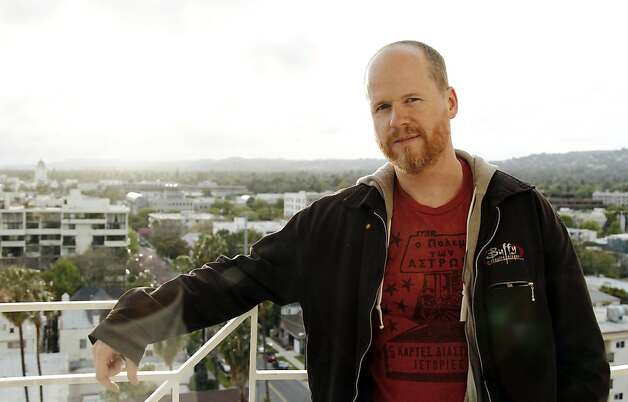 "Writer and director Joss Whedon, from the upcoming film ""The Avengers"", poses for a portrait in Beverly Hills, Calif., Thursday, April 12, 2012.  ""The Avengers"" will be released in theaters May 4, 2012. (AP Photo/Matt Sayles) Photo: Matt Sayles, Associated Press"