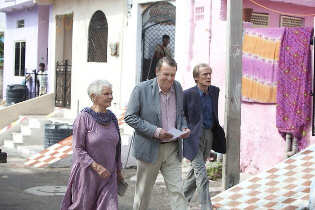 "Judi Dench as ""Evelyn,"" Tom Wilkinson as ""Graham,"" and Bill Nighy as ""Douglas"" star in THE BEST EXOTIC MARIGOLD HOTEL. Photo by Ishika Mohan Photo: Ishika Mohan, Fox Searchlight"