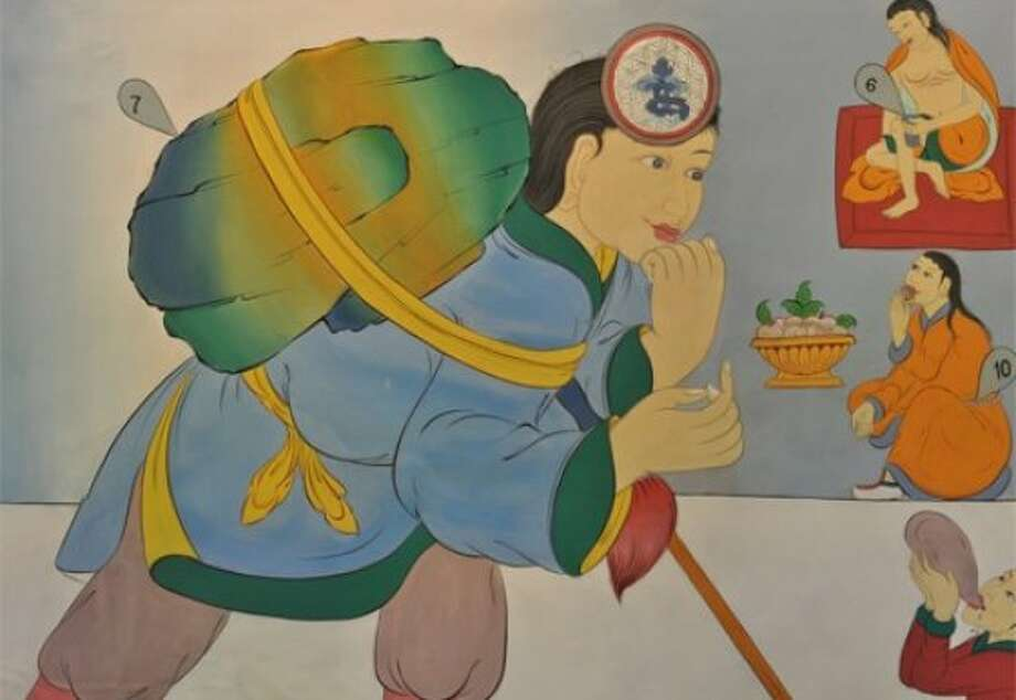 """The World of Your Sense,"" an exhibition featuring Tibetan Buddhist monastics and their scientific illustrations, runs May 1-10 at the Exploratorium. Photo: Exploratorium"