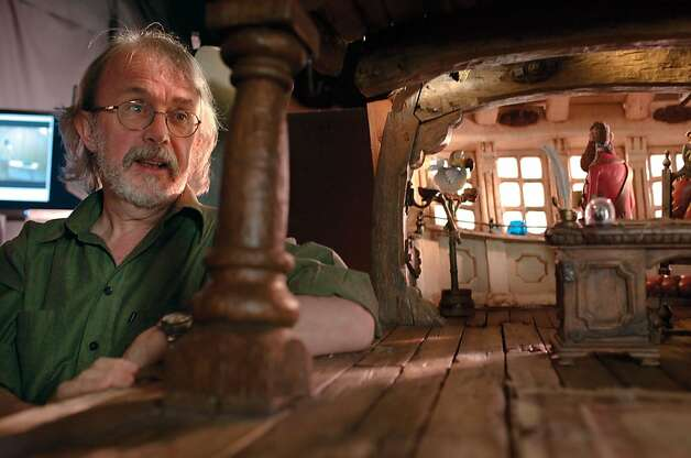 Pete Lord, Director, on the set of the Pirate Captain's cabin on the set of THE PIRATES! BAND OF MISFITS. Pete Lord, Director, on the set of the Pirate Captain's cabin on the set of THE PIRATES! BAND OF MISFITS. Photo: Sony Pictures