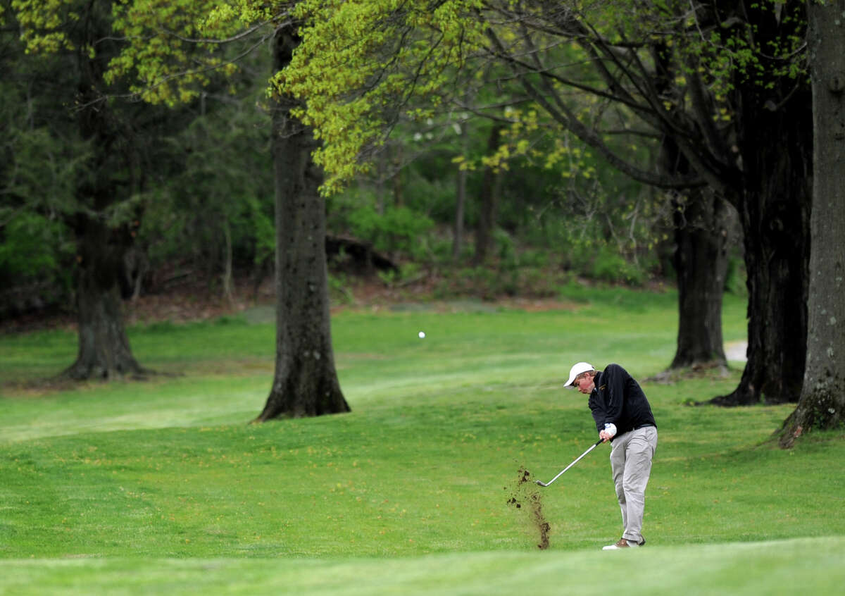 Daniel Weld of Brunswich plays in the Brunswick Invitational golf tournament at Round Hill Club in Greenwich on Thursday, April 26, 2012.