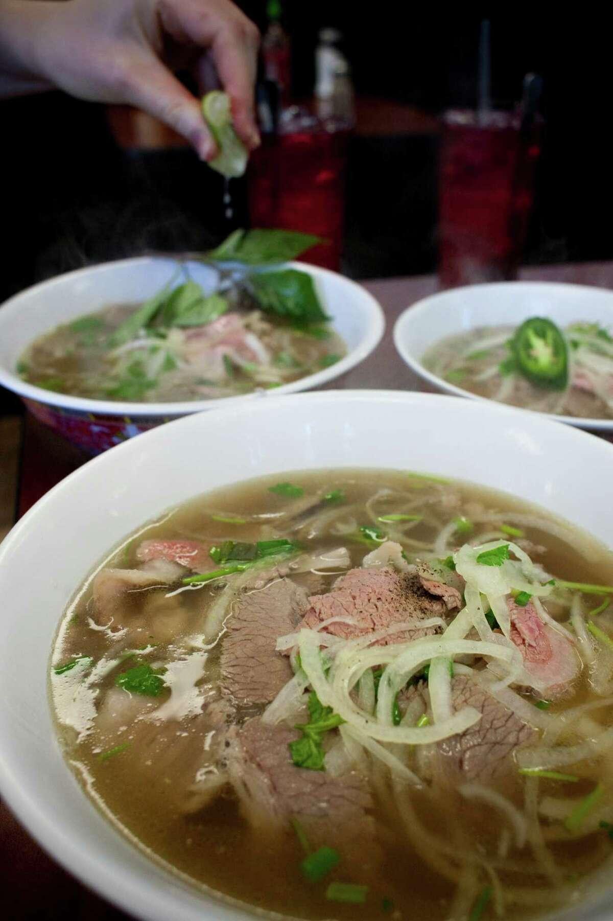 Beef pho at Pho Binh Trailer.