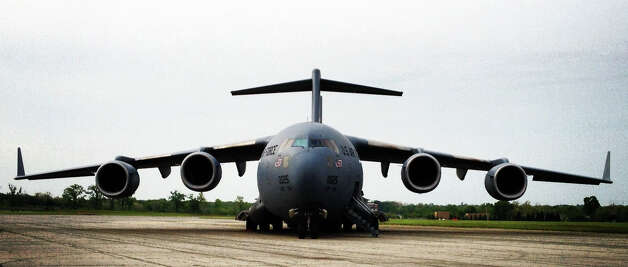 The first U.S. Air Force Boeing C-17 Globemaster III is shown at the National Museum of the U.S. Air Force. Photo: U.S. Air Force