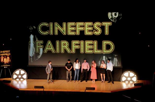 Student-filmmakers discuss their projects during last year's Cinefest at Fairfield University. Photo: Contributed Photo