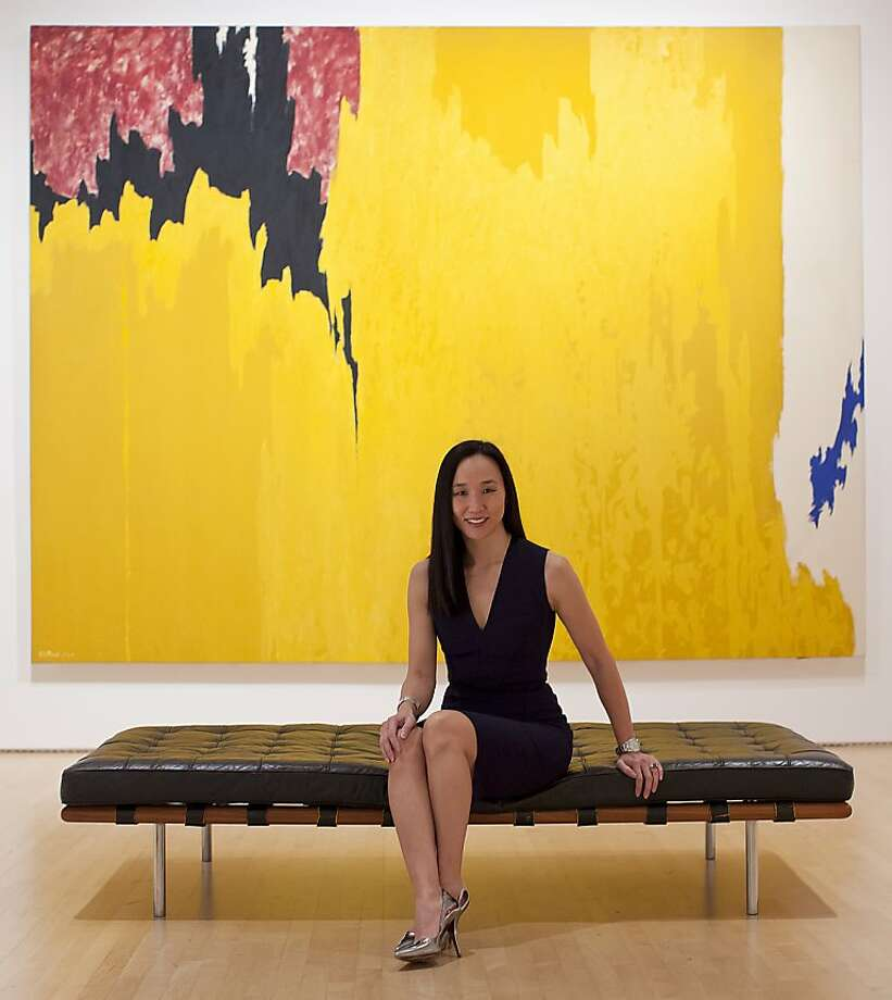 "Plastic surgeon Dr. Carolyn Chang is seen in front of Clifford Still's, ""Untitled,"" Oil on Canvas, 1957 at SFMOMA on Wednesday, March 7, 2012 in San Francisco, Calif. Photo: Russell Yip, The Chronicle"