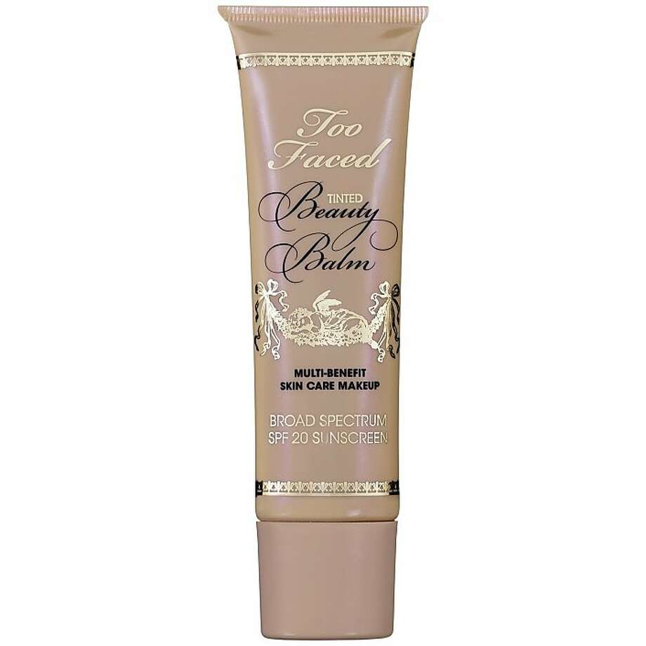 Too Faced Tinted Beauty Balm: Lest you think mineral makeup has fallen by the wayside, Too Faced puts it front and center in its oil-free beauty balm and throws in a little ginseng and ginko biloba for sun protection and chamomile to soothe. It comes in four light-diffusing SPF 20 shades. 1.5 oz. $32. www.toofaced.com. Photo: Handout, Sephora