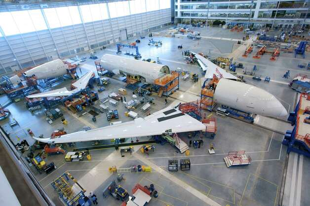 Boeing 787 Dreamliner assembly is shown in Boeing's North Charleston, S.C. plant Photo: ALAN MARTS / The Boeing Co 2011