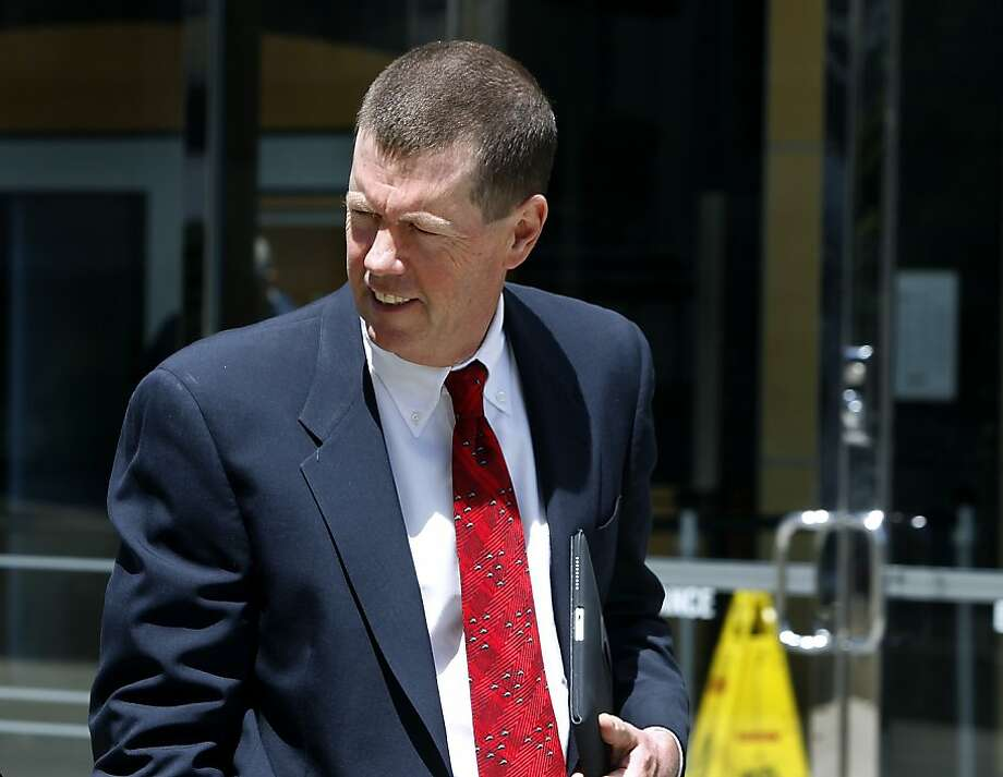 Sun Microsystems co-founder Scott McNealy leaves the Phillip Burton Federal Courthouse after testifying in Oracle's lawsuit trial against Google in San Francisco, Calif. on Thursday, April 26, 2012. Photo: Paul Chinn, The Chronicle