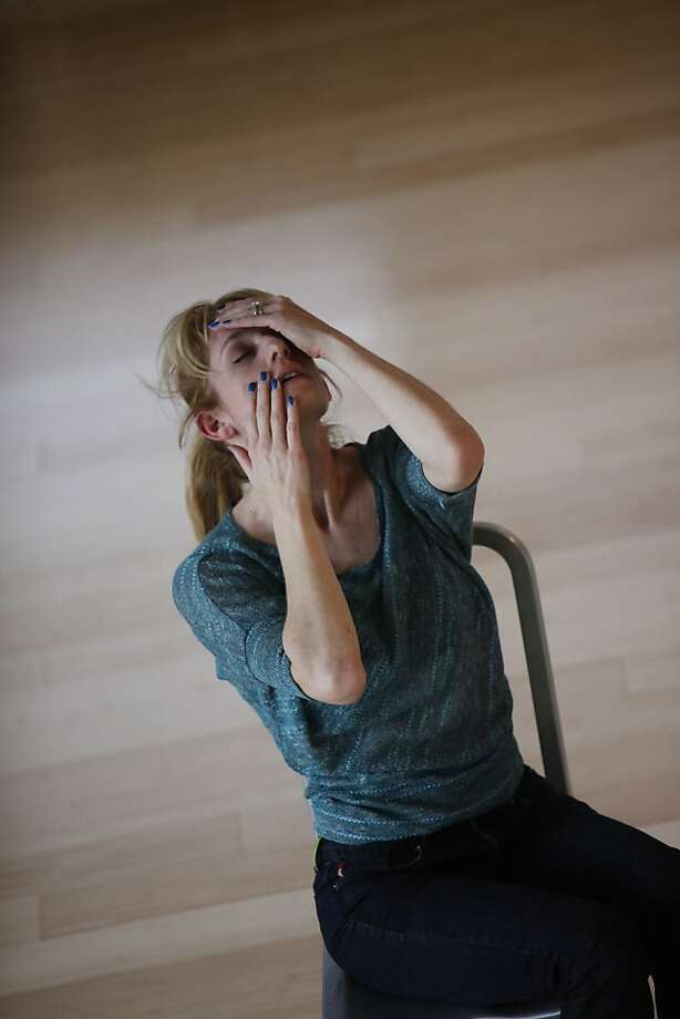 The dance company of Deborah Slater practices for the feature/review of Luna Dance Institute in Emeryville, California , on Wednesday, April 25th, 2012. Photo: Jill Schneider