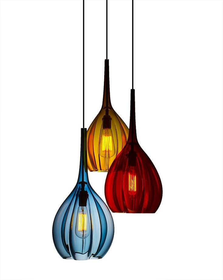 Hand-blown glass vases and lighting from Union Street Glass Photo: Union Street Glass