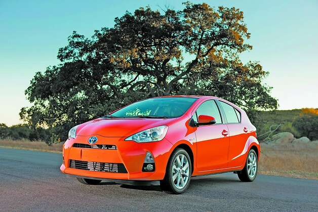 "The Prius c Hybrid for 2012 is a four-door sub-compact, front-wheel drive hybrid hatch that will fill the bill as an entry-level hybrid in Toyota's fuel-efficient stable of vehicles. The ""c"" designation stands for ""city."" Photo: Toyota"