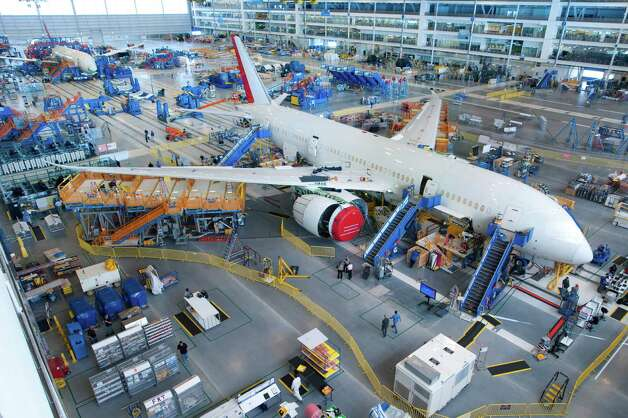The first Boeing 787 Dreamliner assembled at Boeing's North Charleston, S.C., plant is powered on for the first time. Photo: ALAN MARTS / 2010 The Boeing Co.
