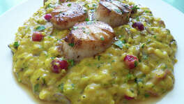 Giacomo's Fall Harvest Pumpkin Risotto features roasted butternut squash, pumpkin, mushrooms and fresh cranberries