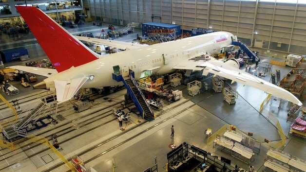 A new Boeing 787 Dreamliner being built for Air India is seen on the production line at Boeing's new production facilities April 27, 2012, in North Charleston, S.C. Photo: PAUL J. RICHARDS, AFP/Getty Images / 2012 AFP
