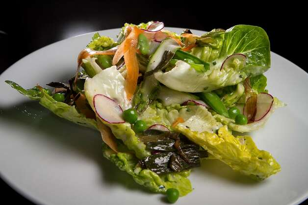 The shaved spring vegetables are brought together by the Green Goddess dressing - creamy, smooth and tangy. Photo: John Storey, Special To The Chronicle