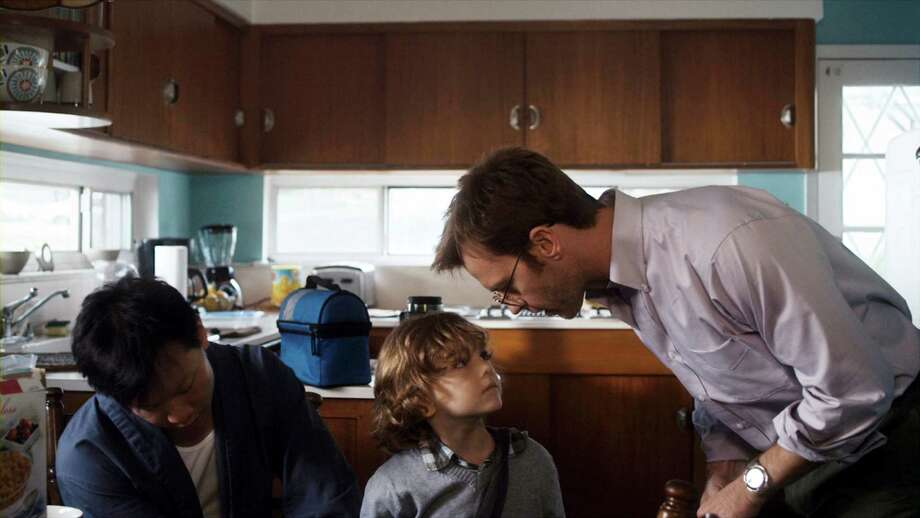"From left: Patrick Wang, Sebastian Brodziak and Trevor St. John in Patrick Wang's film ""In The Family."" Wang's independent production was rejected by 30 festivals before its October 2011 premiere at the Hawaii International Film Festival and is now playing on a single Manhattan screen as a self-distributed release. (In the Family via The New York Times) -- NO SALES; FOR EDITORIAL USE ONLY WITH STORY SLUGGED FAMILY-FILM-REVIEW. ALL OTHER USE PROHIBITED. Photo: IN THE FAMILY / IN THE FAMILY"