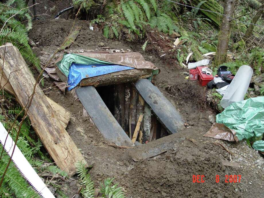 The King County Sheriff's Office released photos that show murder suspect Peter Keller's bunker on a hillside off the Rattlesnake Ridge Trail. Photo: Courtesy Of King County Sheriff's Office