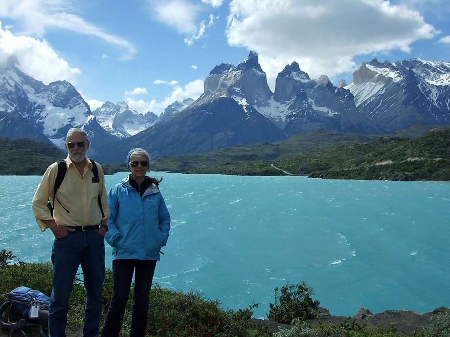 Richard and Chris Braunlich at Torres del Paine National Park, Patagonia, Chile. Photo: Courtesy Chris Braunlich