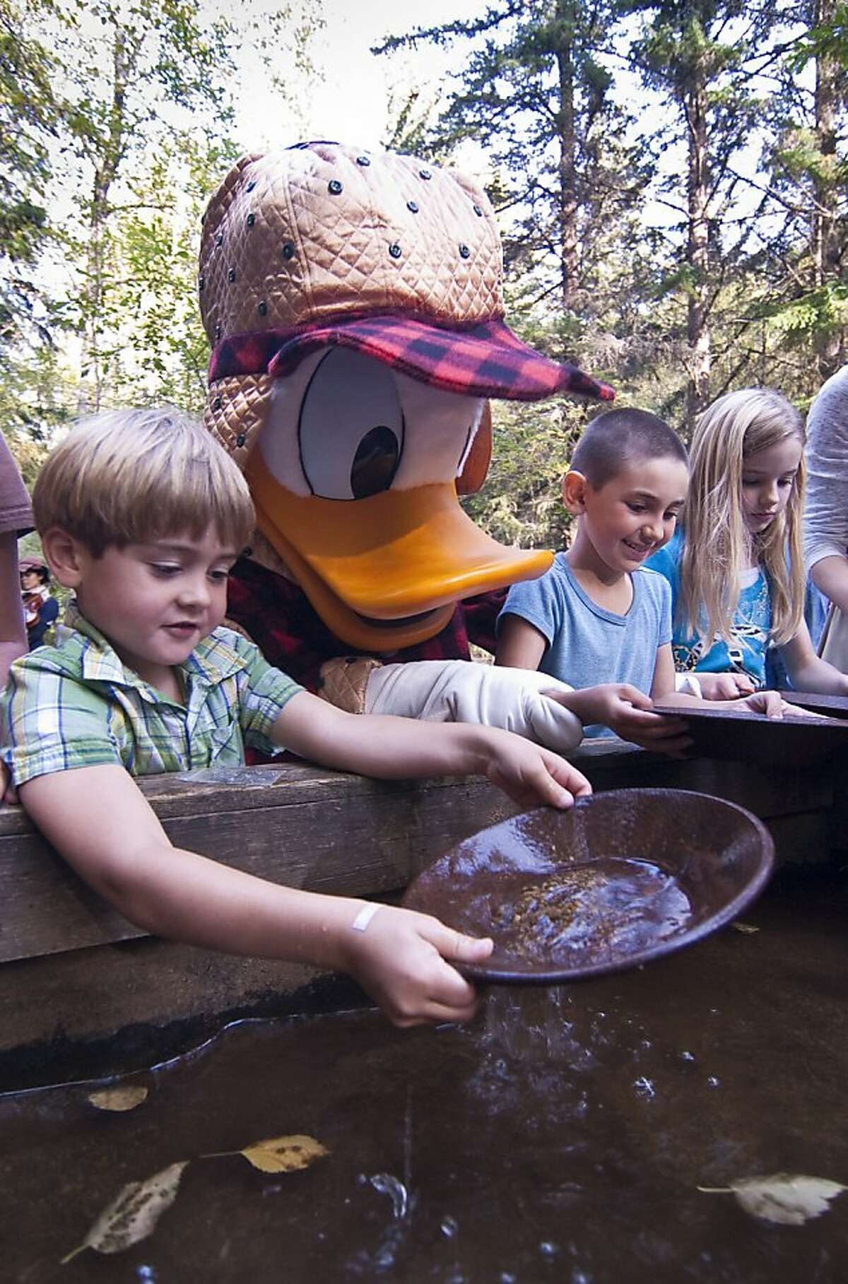 Located at the edge of Skagway, Alaska, the Liarsville Gold Rush Trail Camp is a gentle recreation of the gold rush era; when guests of the Disney Wonder cruise ship visit, a cast of other characters is present.
