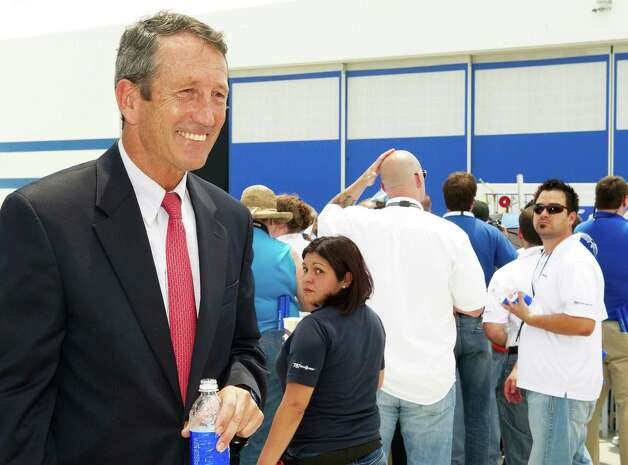 Former South Carolina Governor Mark Sanford attends ceremonies at the Boeing production facilities  April 27, 2012, in North Charlston, S.C. Photo: PAUL J. RICHARDS, AFP/Getty Images / 2012 AFP