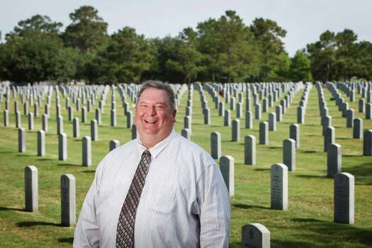 The new director of the Houston National Cemetery, Mat Williams, says he has no problem with prayer and will be reaching out to volunteer groups to repair strained relationships. Photo: Michael Paulsen / © 2012 Houston Chronicle