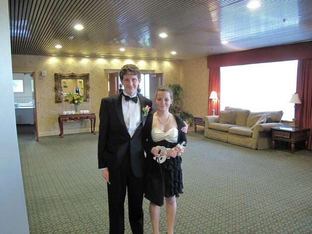 Carson Shane with his date Julia Diaz. Photo: Paresh Jha