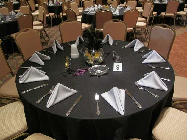 Each table was adorned with a few masks. Photo: Paresh Jha