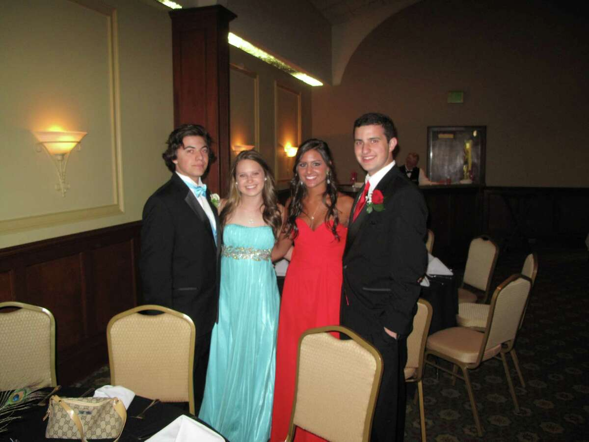 These juniors are ready for prom! From left to right: Tyler Melfi, Anna Vonoehsen, Ali Sorbara and Jay Bungiorno