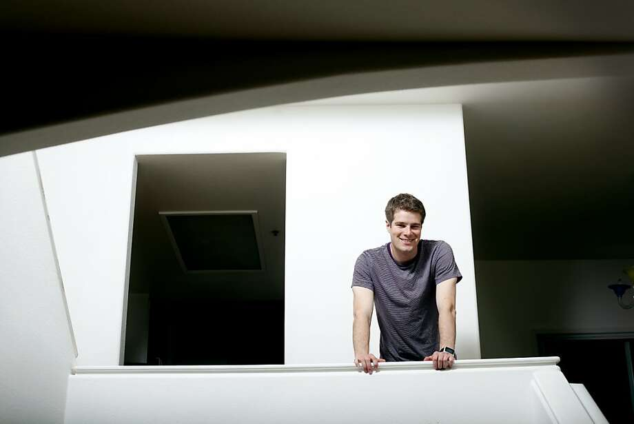 Pebble founder Eric Migicovsky at his condo, which is also functioning as the offices for his smart watch company in Mountain View, Calif., Tuesday, April 24, 2012.  The company posted their watch on Kickstarter last week and got more than $3 million in pledges on its first day. Photo: Sarah Rice, Special To The Chronicle