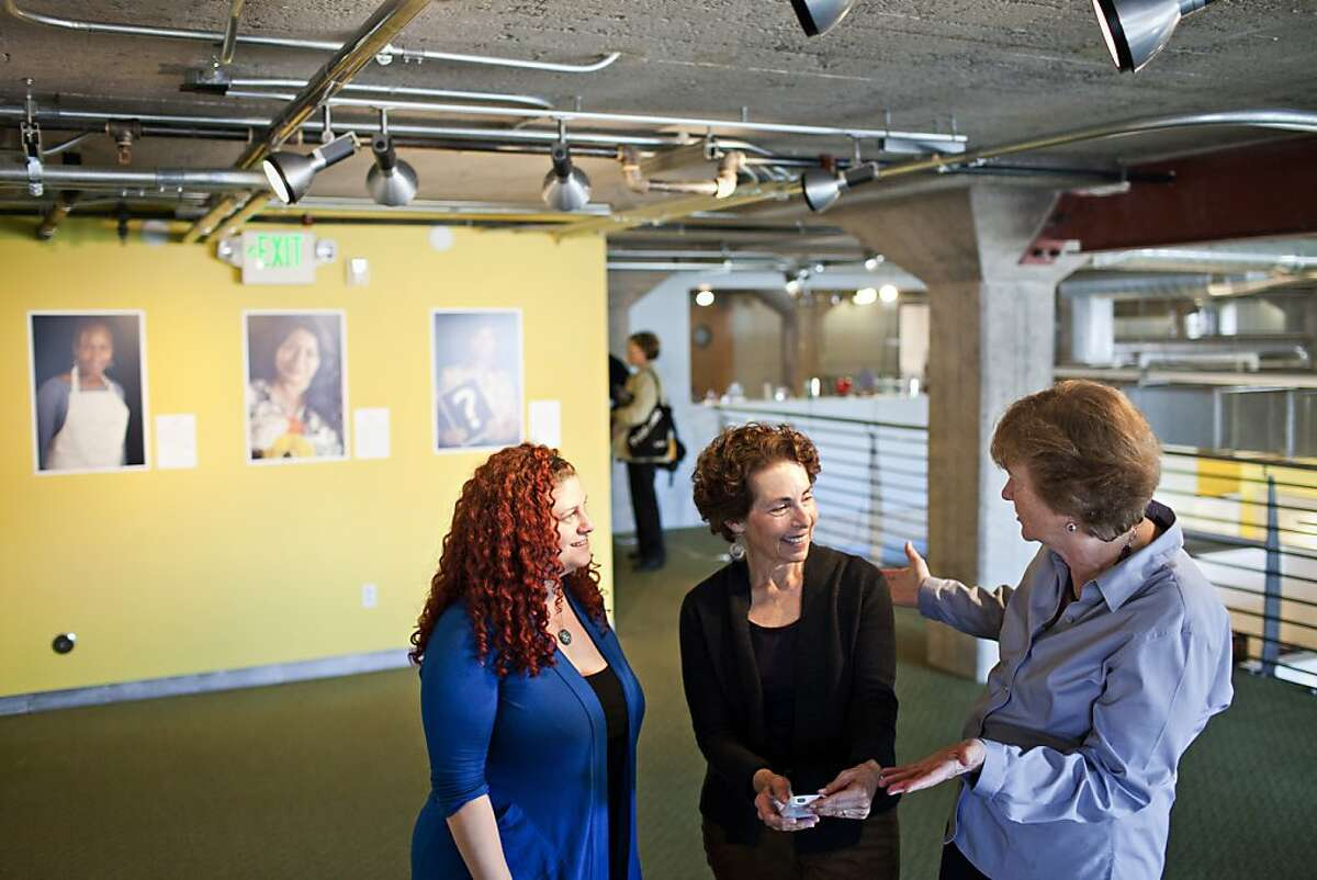Carrie Hamilton, who works at the HPP and is a subject of the exhibit, Marsha Guggenheim, photographer of the exhibit,