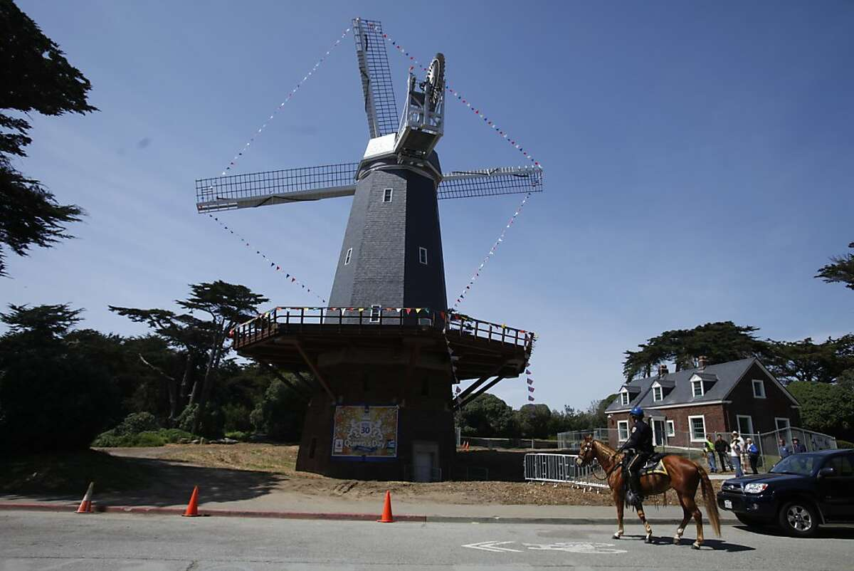 The Dutch windmill is seen on Friday, April 27, 2012 in San Francisco, Calif. The Queen's Day 2012 festival will be held on April 28th near the Dutch Windmill in Golden Gate Park.
