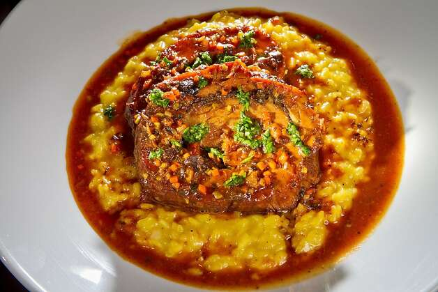 The Veal Breast with Saffron Risotto at Redd Wood Restaurant in Yountville, Calif. is seen on April 6th, 2012. Photo: John Storey, Special To The Chronicle