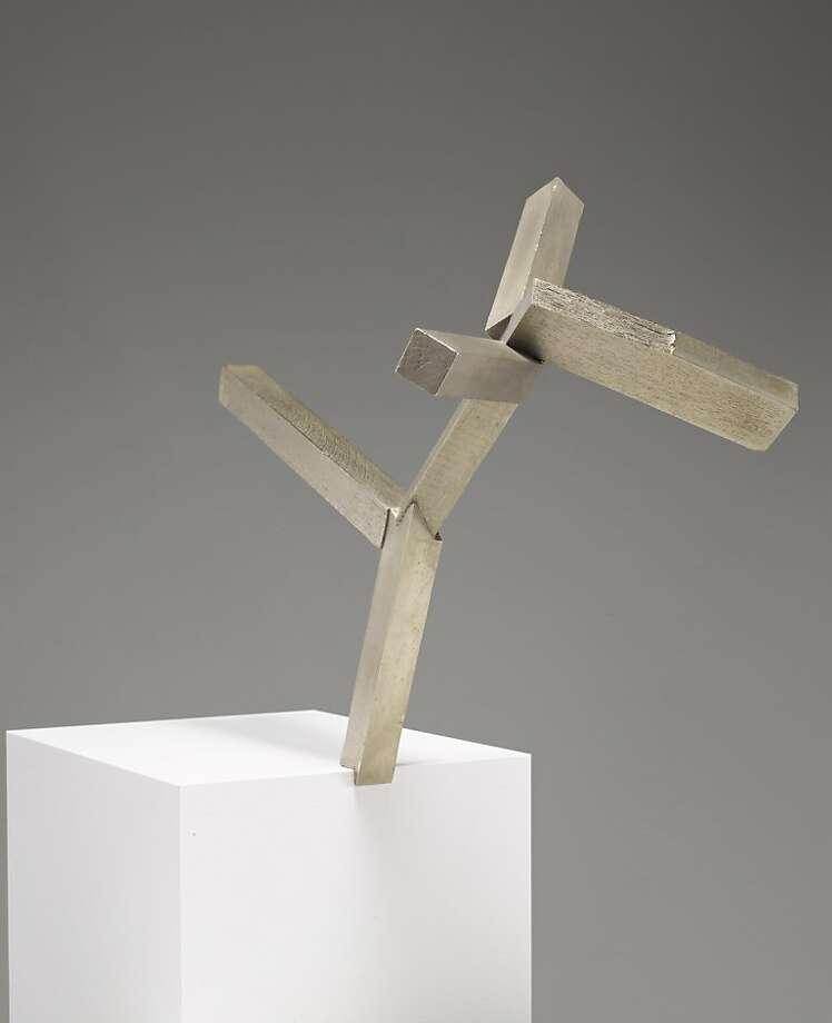 """Untitled"" (2011) white bronze by Joel Shapiro   edition of 5 Photo: Kerry Ryan McFate"