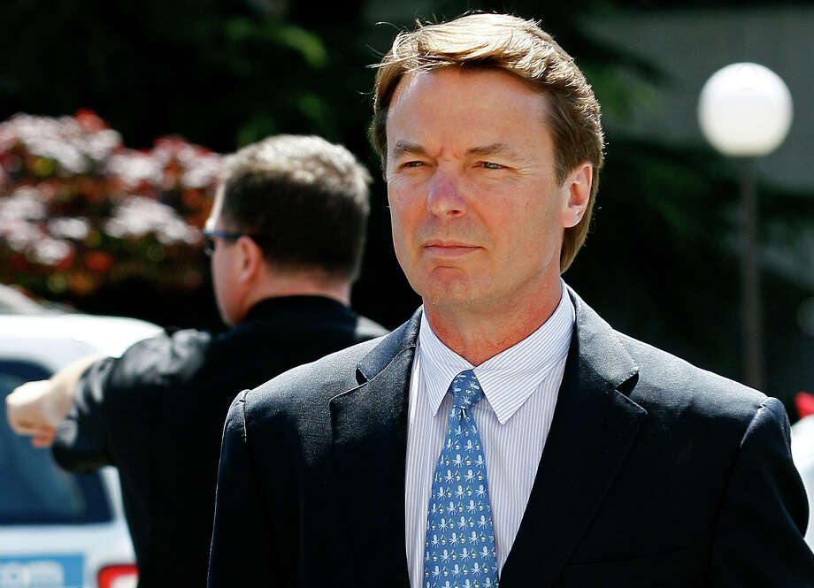Former presidential candidate and U.S. Sen. John Edwards arrives outside federal court in Greensboro, N.C., on April 12, 2012. Photo: AP