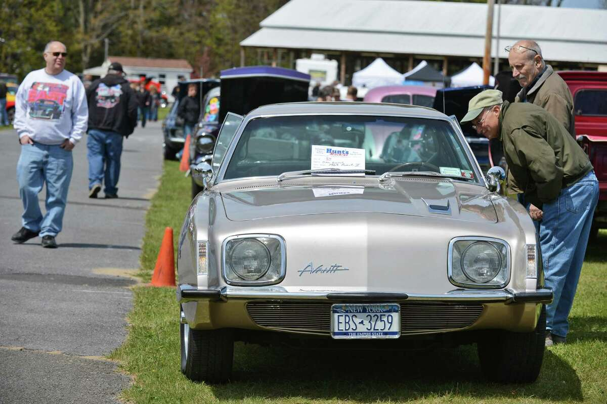 A 1968 Avanti II draws attention at the Saratoga Nationals Expo car show at the Saratoga County Fairgrounds in Ballston Spa Saturday April 28, 2012. (John Carl D'Annibale / Times Union)