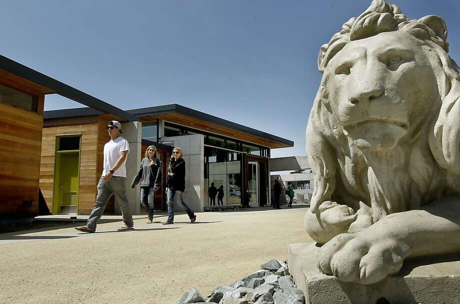 The main entrance on the Eastern side of the building, at the new Lands End Lookout perched above the Sutro Bath in San Francisco, Ca., on Friday April 27, 2012. Inside there is a visitor's center, cafe and gift shop. Photo: Michael Macor, The Chronicle