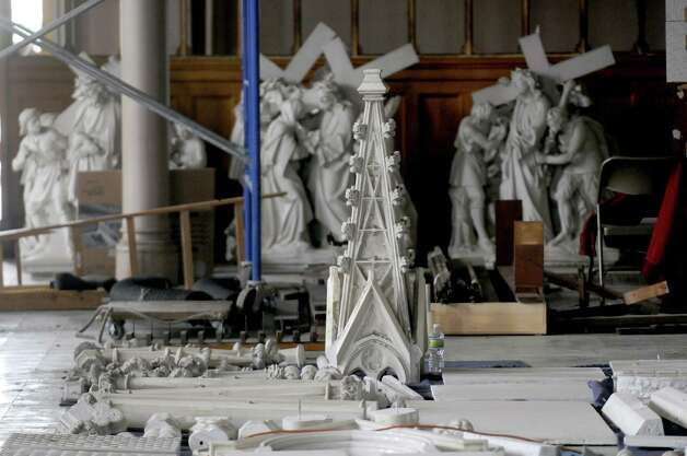 Religious icons and fixtures being salvaged from St. Patrick's Church in Watervliet N.Y. Friday April 27, 2012. (Michael P. Farrell/Times Union) Photo: Michael P. Farrell