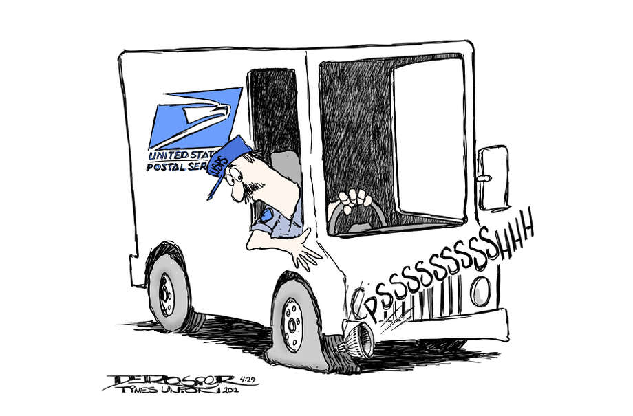 Postal Service undermined by Congress. Photo: John De Rosier