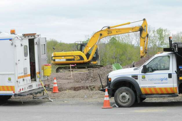 "National Grid digs trenches for a new distribution gas line for a new development called ""The Pastures."" Friday, April 27, 2012 in North Greenbush, N.Y. (Lori Van Buren / Times Union) Photo: Lori Van Buren"