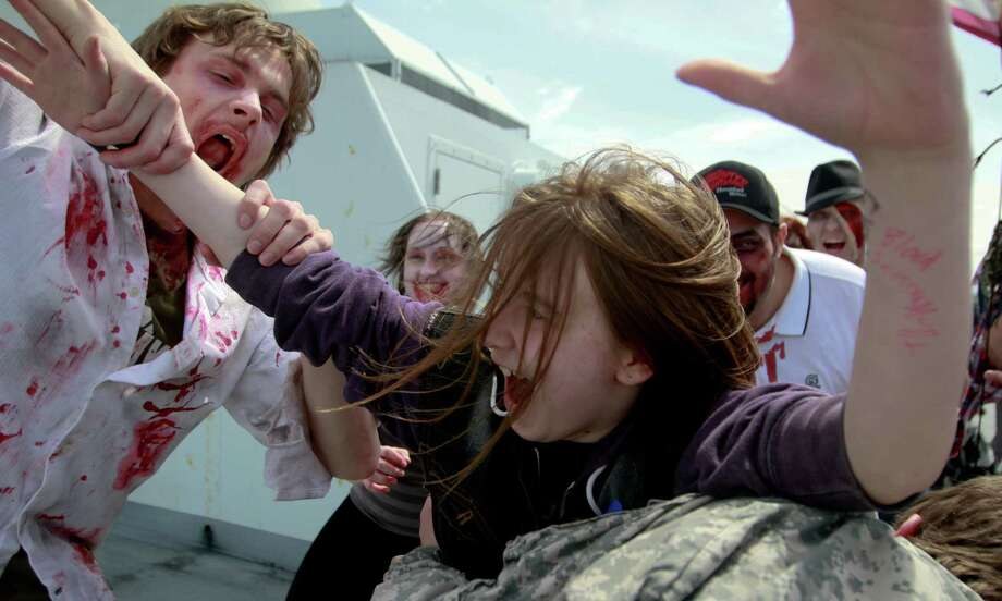 A victim is attacked on the Bremerton ferry. Photo: SOFIA JARAMILLO / SEATTLEPI.COM