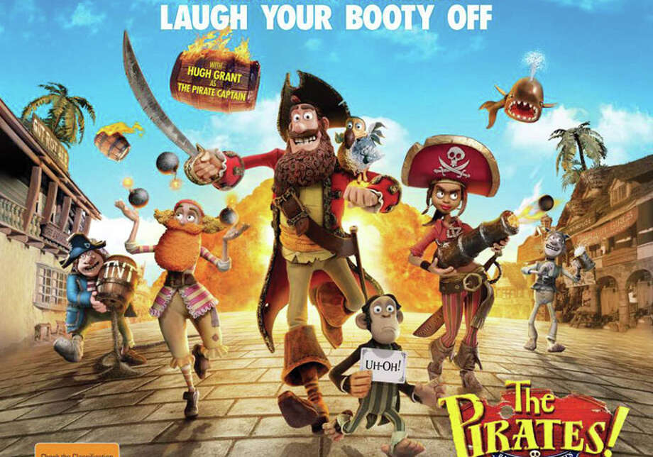 "The animated movie, ""The Pirates! Band of Misfits,"" is playing in area theaters. Photo: Contributed Photo / Westport News contributed"