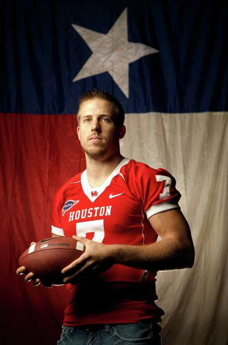 University of Houston quarterback Case Keenum. Photographed , Tuesday, Nov. 22, 2011, in Houston. ( Nick de la Torre / Houston Chronicle )***Check with Gonzales or Karnicki before use**** Photo: Nick De La Torre / © 2011  Houston Chronicle