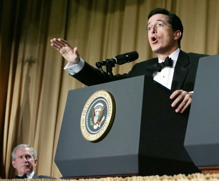 Stephen was invited to the White House Correspondents' Association Dinner in 2006. Despite his character being a lampoon of Republicans and other conservative principles, he was just a few yards from then U.S. President George W. Bush. That didn't stop him from satirizing Bush and the media in attendance.