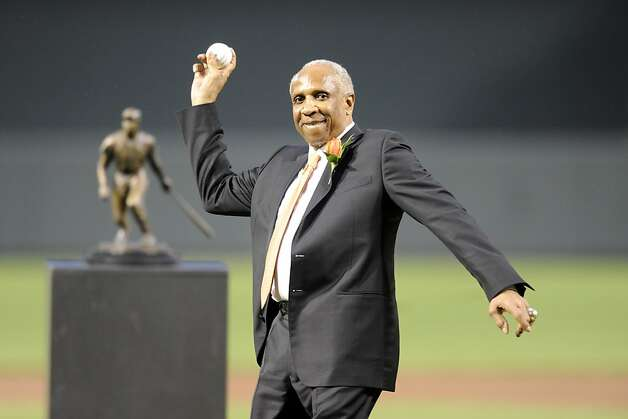 Outfielder Frank Robinson attended McClymonds High in Oakland where he was teammates with Bill Russell on the school basketball team. Robinson's number was retired by both the Orioles and the Reds. Photo: Mitchell Layton, Getty Images