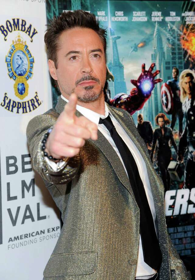 "Actor Robert Downey Jr. attends the premiere of ""The Avengers"" during the 2012 Tribeca Film Festival on Saturday, April 28, 2012 in New York. (AP Photo/Evan Agostini) Photo: Evan Agostini"