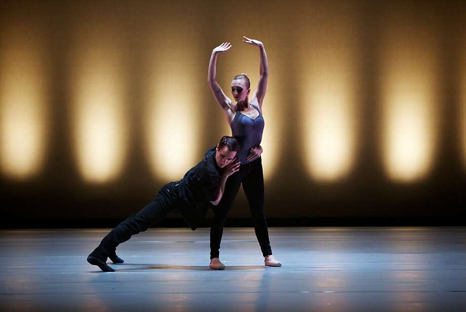 """Swipe"" by Val Caniparoli receives its West Coast premiere by Smuin Ballet. Shown are dancers: Darren Anderson and Robin Cornwell Photo: Keith Sutter"
