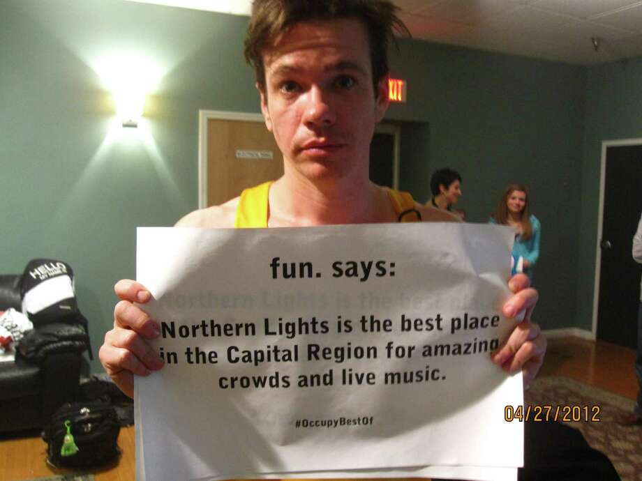 Frontman for the indie band fun. Nate Ruess occupies Best Of after a recent concert at Northern Lights in Clifton Park. (Nick Tirado)