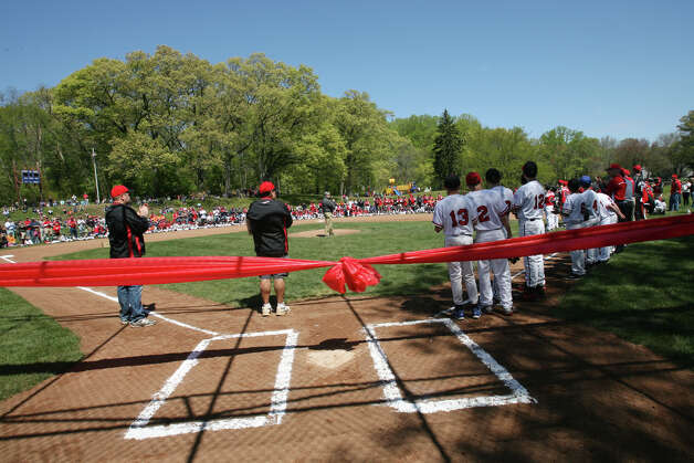 Fairfield American Little League holds its opening day ceremonies at the newly reconfigured fields at Gould Manor Park in Fairfield, Conn. on Sunday, April 29, 2012. Photo: B.K. Angeletti / Connecticut Post